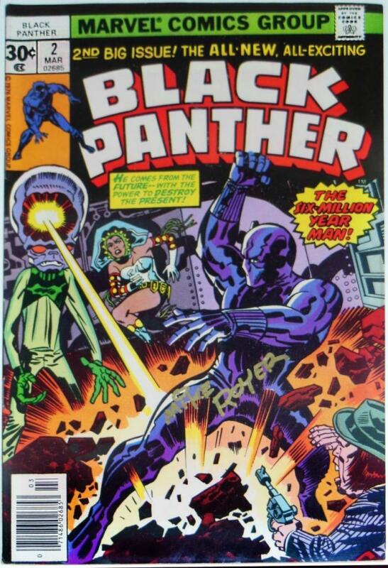 BLACK PANTHER #2~MARVEL COMICS~SIGNED MIKE ROYER~UNCIRCULATED~1977~JACK KIRBY