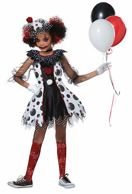 Creepy Child Costume (California Costumes Creepy Clown Red Balloon Child Girls Halloween Costume)