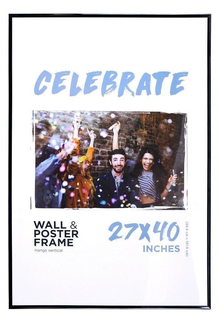 27x40 movie poster frame black edges basic