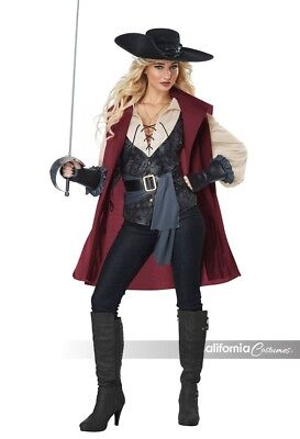 California Costumes Lady Three Musketeers Womens Adult Halloween Costume 01427
