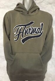 Mens Animal Charcoal Grey Overhead Hoody New with tags LARGE