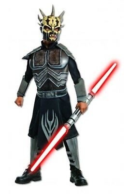 Jungen Kind Star Wars Clone Wars Deluxe Savage Opress Bösewicht Kostüm (Savage Opress Kostüm)