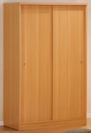 New Branded 2 Door Sliding Wardrobe with Shelves, Hanging Rails and Drawers in Oak, Beech, White