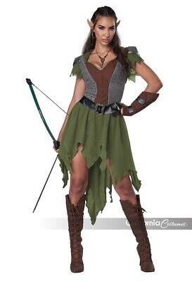 California Kostüme Elf Bogenschütze Elfe Adult Damen Halloween Kostüm 5020-029