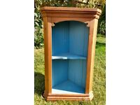 Solid Wood Pine Hanging Corner Cupboard VGC Pretty Shabby Chic REDUCED
