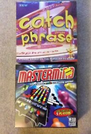 NEW - Board Games Mastermind, Catch Phrase & Pictionary