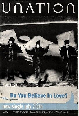 31 7 93Pgn04 Unation   Do You Believe In Love  Single Advert 7X5