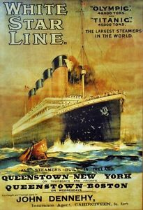 Historys-Most-Famous-Ship-RMS-Titanic-White-Star-Line-Poster-1911-Historic-Photo