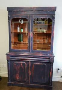 VICTORIAN PAINTED BOOKCASE