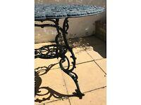 Green Oval Garden Table