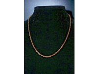 18inch 9ct gold rope style chain