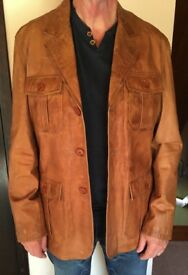 Golden Tan Men's Leather Jacket - Brand New, Never Worn