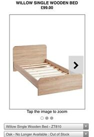 Single wooden bed x2
