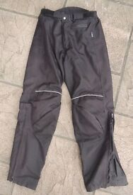 Motorbike motorcycle trousers size men small, ladies 12/14
