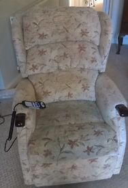 Tilt and recline HSL chair with matching two seater settee £350 secures both items