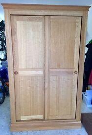 Solid Oak 2 Door Wardrobe