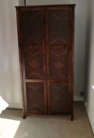 Beautiful moroccan style wardrobe wicker door solid wood