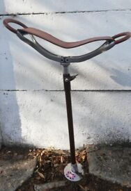 Trion Brown Shooting Stick Folding Seat Adjustable Hiking Camping