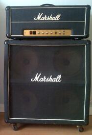 "Vintage 1970's Marshall Amp & 4 X 12""Cabinet"
