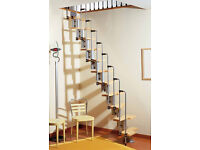 Arke Karina modular space saver staircase in Beech.
