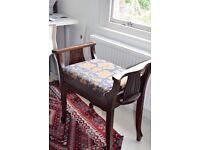 Vintage lyre piano stool