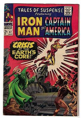 Marvel Comics  TALES OF SUSPENSE  #87 VGF 4.5  Captain america