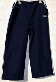 "Reebok JXL Boys Girls Men's Ladies Blue 3 Quarter Length Cropped Tracksuit Bottoms Trousers W26-32"""