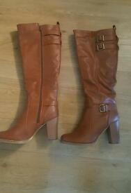 Size 6 (39) brown long boots