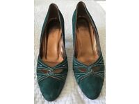 Dark green suede L K Bennet heels (size 41) in perfect condition