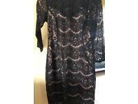 Wallis black lace dress