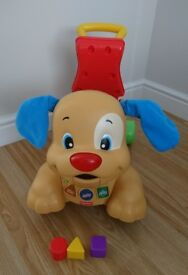 Fisher Price Laugh and Learn Stride To Ride Puppy Ride On Push Along Toy Very Good Condition