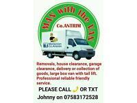Man & Van Co Antrim Removals service