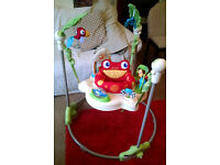 Fisher Price Rainforest Jumperoo interactive baby play bouncer, collection Hyndland