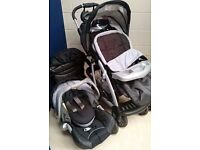 Mothercare Trenton Full Travel System in Black in Excellent Condition REDUCED
