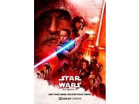 "STAR WARS THE LAST JEDI CINEMA POSTER 20"" x 30"" Inch Framed Canvas Picture"