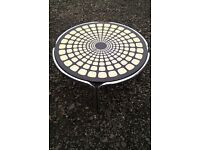 Rare 1970's Op Art Circular Coffee Table