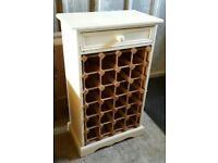 Solid Pine 24 Bottle Wine Rack with Drawer