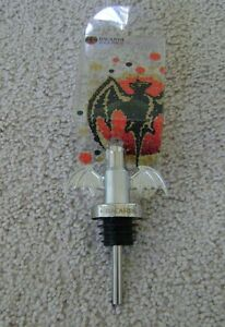 BACARDI Together RUM BAT Bottle Metallic Stopper Pourer NEW