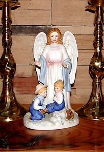 Denim days guardian angel home interiors homco christmas Eba home interior figurines