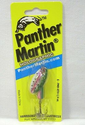 Panther Martin 1/4oz Rainbow Trout Holographic Spinner Fishing Lure