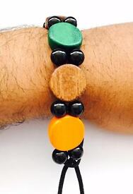 Handcrafted Unisex Boys Girls Bracelet Wristband Wooden Design Customised
