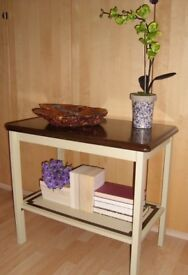 Retro 2-Tier Console Table Painted in Annie Sloan Versaille Paint