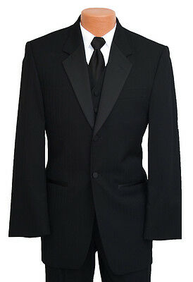 Black Parisian Tuxedo Formal Jacket & Pant Set Discount Prom Tux Coat / Trousers - Prom Suit