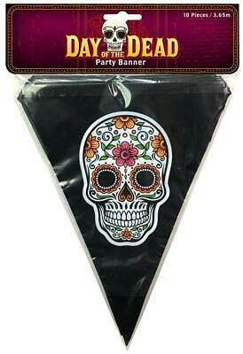 Halloween Party Hanging Garland DAY OF THE DEAD PARTY BANNER PARTY CANDY SKULL
