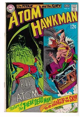 DC Comic ATOM Silver age  #41 Hawkman FN 6.0  superman 1968