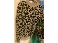NAK-D leopard print thick jumper