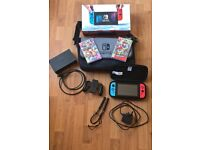 Nintendo Switch (Boxed) Plus two Games