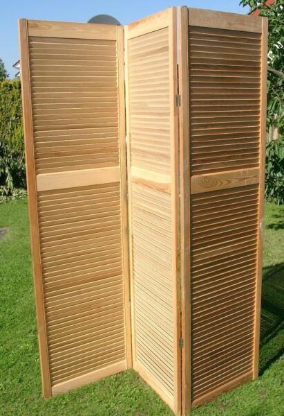 sichtschutz spanische wand trennwand holz paravent raumteiler 2m in leipzig ost wohnwand. Black Bedroom Furniture Sets. Home Design Ideas