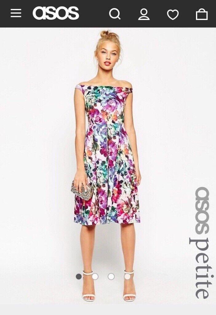 71b34daec96 ASOS Petite Floral Prom or Wedding Guest Dress Size 6