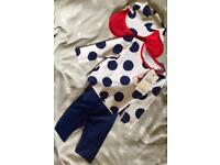 BNWT 9-12 month 3 piece swimsuit